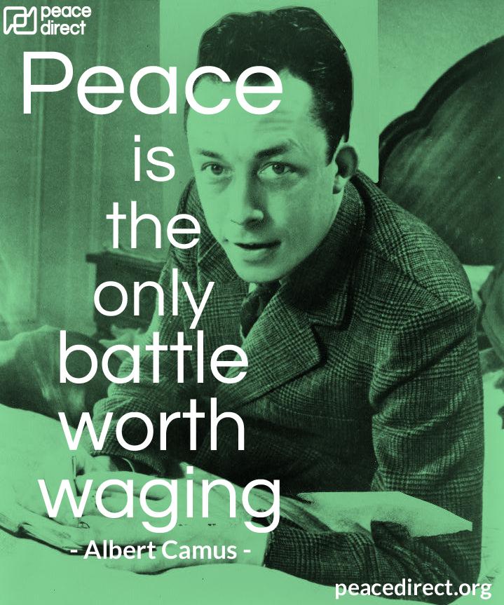 Albert Camus peace quote