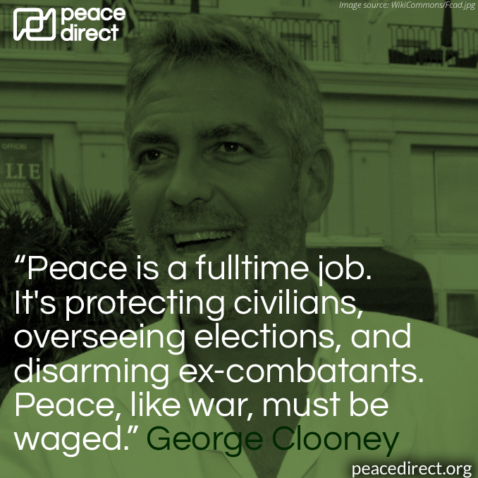 George Clooney peace quote