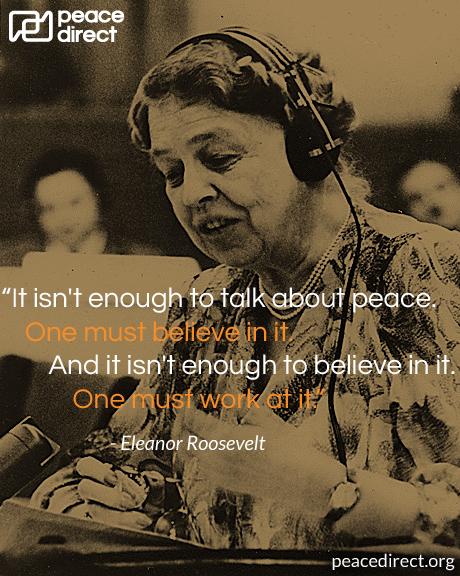 Eleanor Roosevelt peace quote