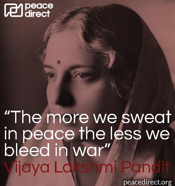 Vijaya Lakshmi Pandit peace quote