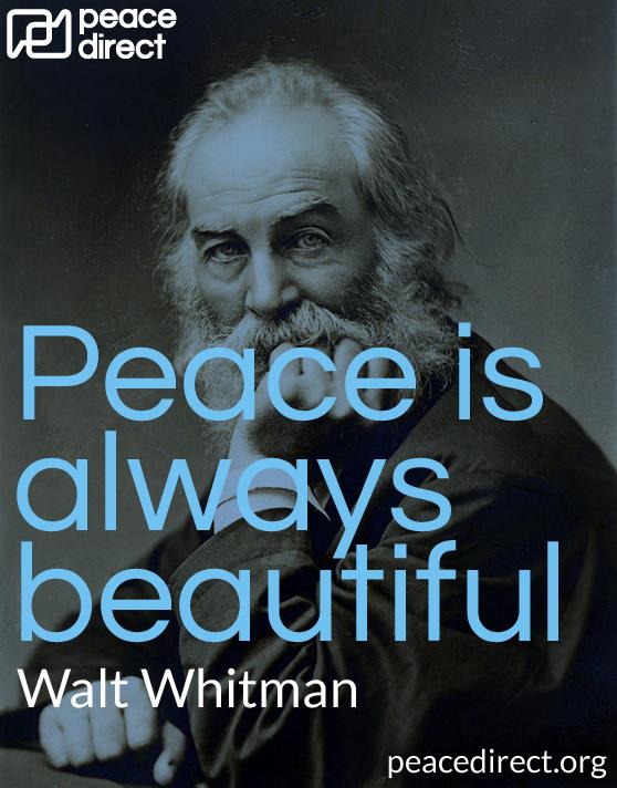 Walt Whitman peace quote