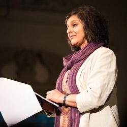 Meera Syal reads the testimony of peacebuilder Dishani Jayaweera.