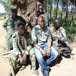 Our local partners with recently rescued child soldiers in DR Congo.